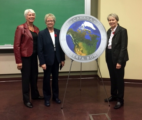Beaming RBF Board members Elaine Paterson, Bonnie Patterson, Dr. Bondar