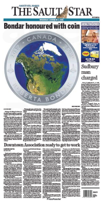 Sault Star Front Page