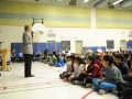 Dr Roberta Bondar addresses student assembly