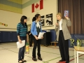 Students thank speaker, Dr Roberta Bondar, and present gifts