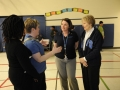 Dr Roberta Bondar with teachers involved in the Bondar Challenge