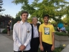 Dr Roberta Bondar with Joshua Kennington and Muhaymin Raza