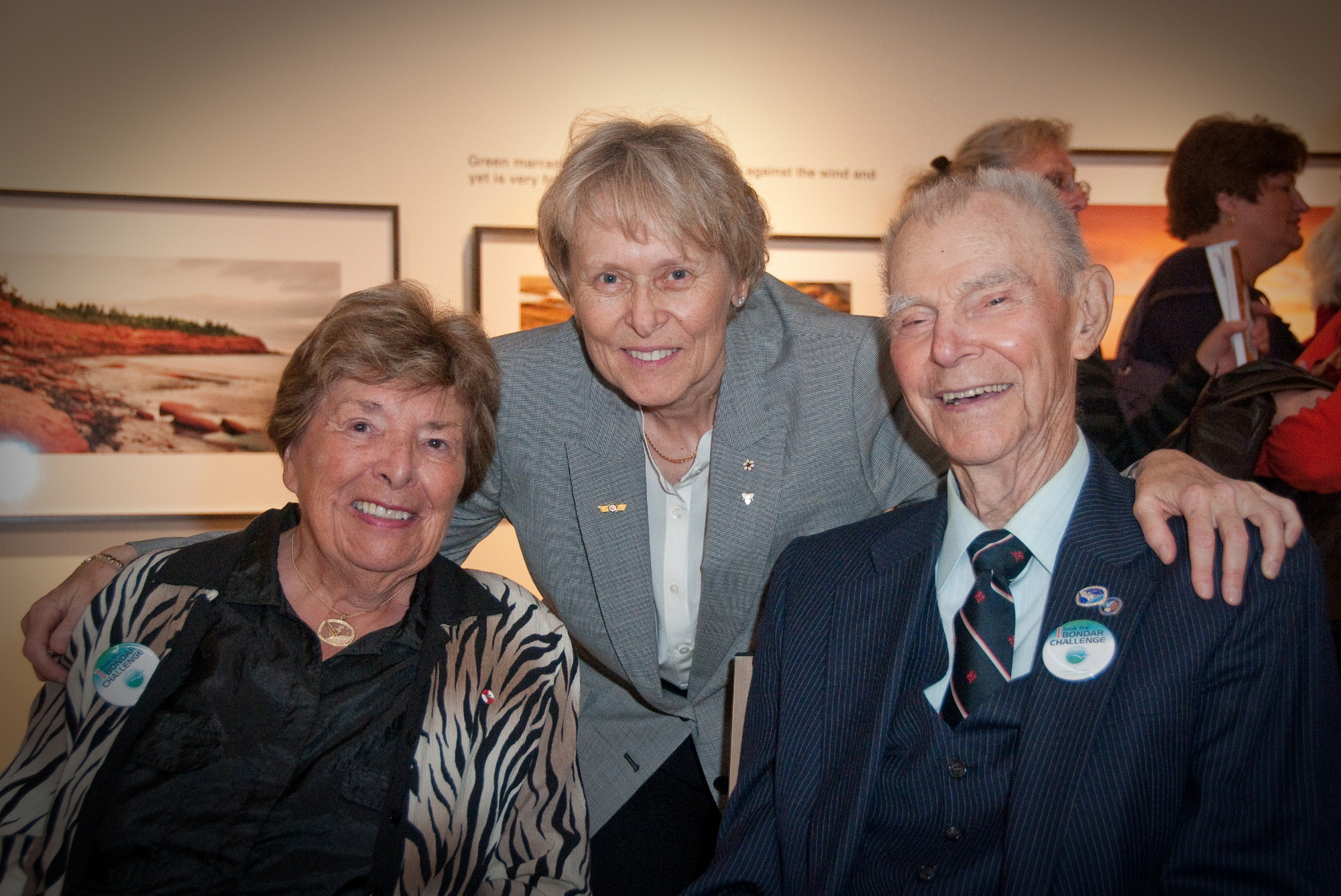 Dr Betty Roots, Dr Roberta Bondar and George Constable