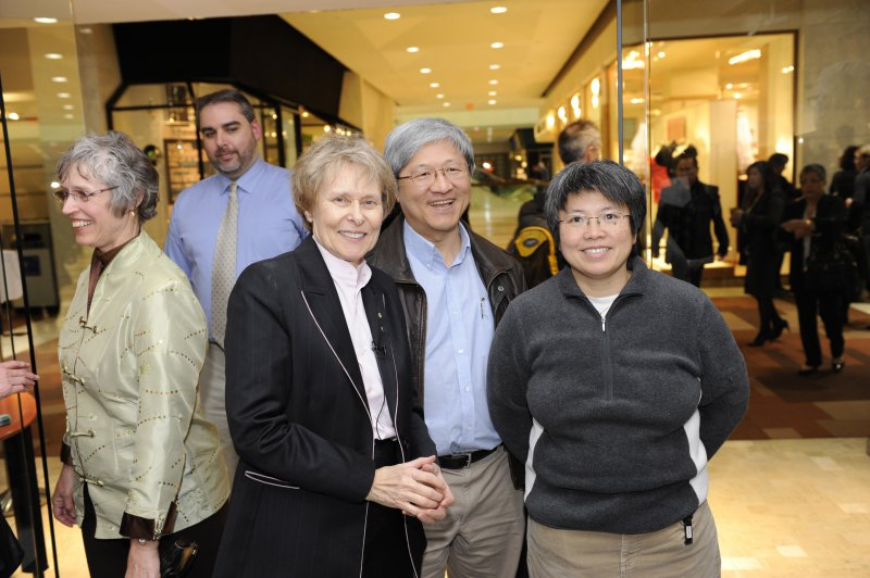 Dr Roberta Bondar with Darwin Tsai and Dr Rose Kung