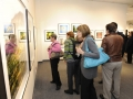 Gallery patrons at The Roberta Bondar Foundation's first Traveling Exhibition and Learning Experience