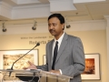 Kalyan Ghosh, Chief Commercial Officer, Essar Steel Algoma Inc. addresses gallery patrons at The Roberta Bondar Foundation's first Traveling Exhibition and Learning Experience