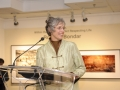 Joan Hamilton, Principal, Roberta Bondar Public School, Brampton, addresses gallery patrons at The Roberta Bondar Foundation's first Traveling Exhibition and Learning Experience