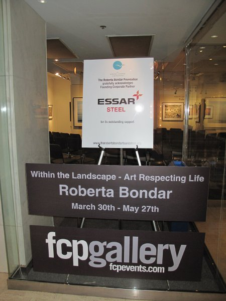 Founding Sponsor acknowledgement on display at the First Canadian Place Gallery.