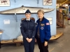 Dr Bondar with Cadet Angelica Lanthier