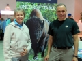 Dr. Roberta Bondar with Richard Zaidan, Visitor Experience Manager, Wood Buffalo NPC, The Foundation's partner on Whooping Crane education.