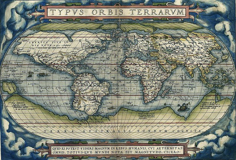 Map of the World featured in Theatrum Orbis Terrarum, the world's first atlas