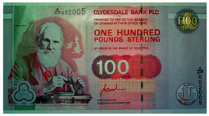 Lord Kelvin, a man whose high value ideas and knowledge you could bank on, appears on the Clydesdale Bank's £100 note.