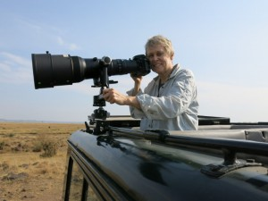 Dr Roberta Bondar on track in Kenya
