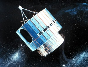 Artist rendering of GOES-1 courtesy the NOAA Photo Library.