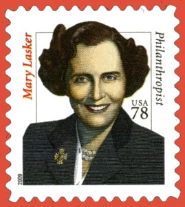 USPO commemorative of Mary Lasker