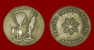 The Hooke Medal of the British Society for Cell Biology awarded annually to an emerging leader in cell biology.