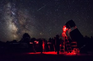 Gordon's Park Dark-Sky Preserve look at part of the Milky Way during a Perseid Shower