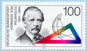 Deutsche Bundespost salute to Hermann von Helmholtz on the centenary of his death. Image courtesy of Jeff Miller