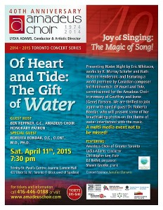 Of Heart and Tide: The Gift of Water flyer