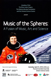 """Music of the Spheres"" program cover"