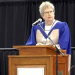 Prof Bonnie M Patterson receives an Honorary Doctor of Commerce at Lakehead University (Orillia) Convocation